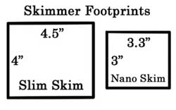 Skimmer Dimensions