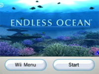 Endless Ocean Start Screen