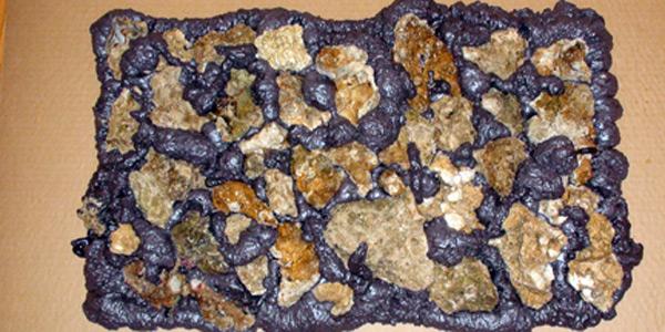 Rock Wall Dried Foam