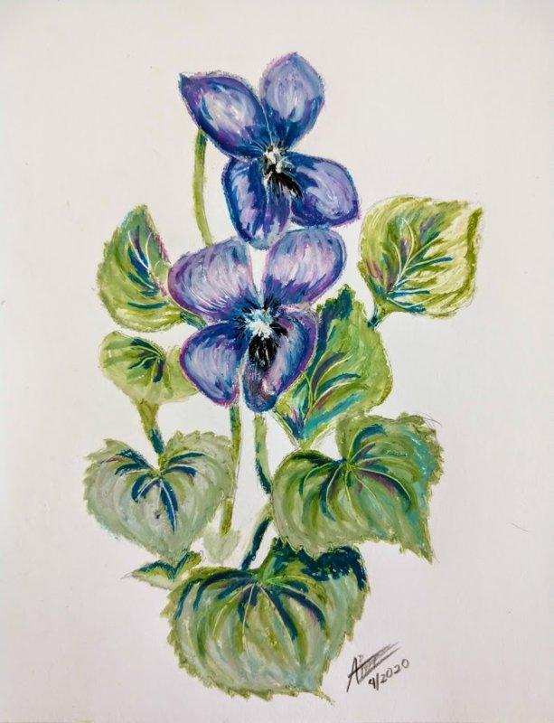 Violets in oil pastel.jpg
